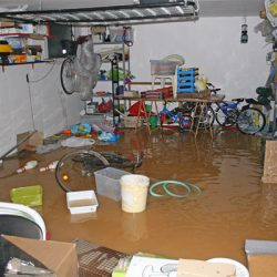 water damage garage