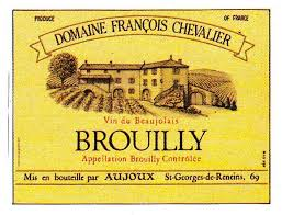 Brouilly Wine Label