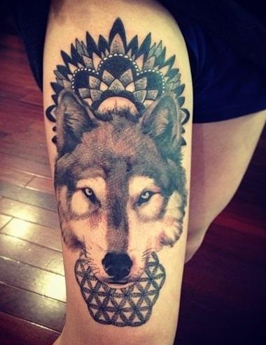 wolf-tattoo-designs-leg