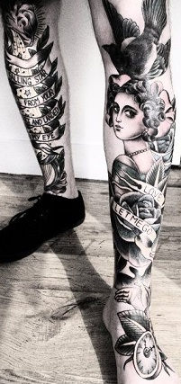 leg-tattoos-oldshool