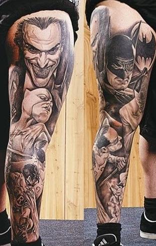 leg-tattoos-portrait-batman