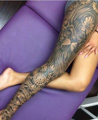 leg-tattoos-women-sleeve-full