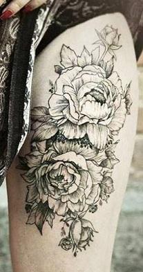 leg-tattoos-women-thigh-roses