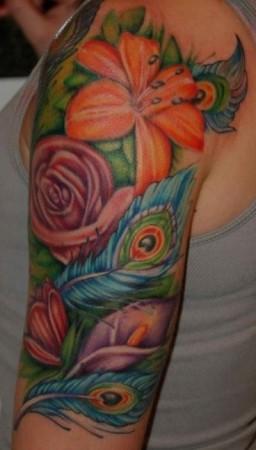 peacock-tattoos-upper-arm