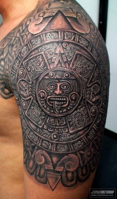 shoulder-tattoos-men-aztec