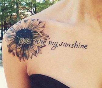 shoulder-tattoos-sunflower