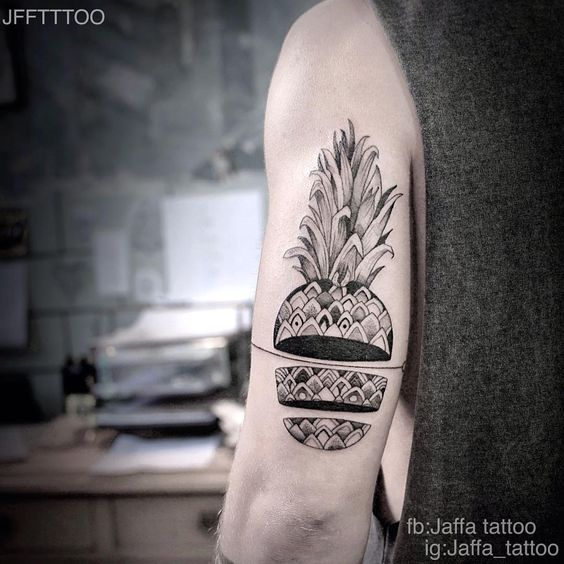 Pineapple Tattoo by Dan Lior