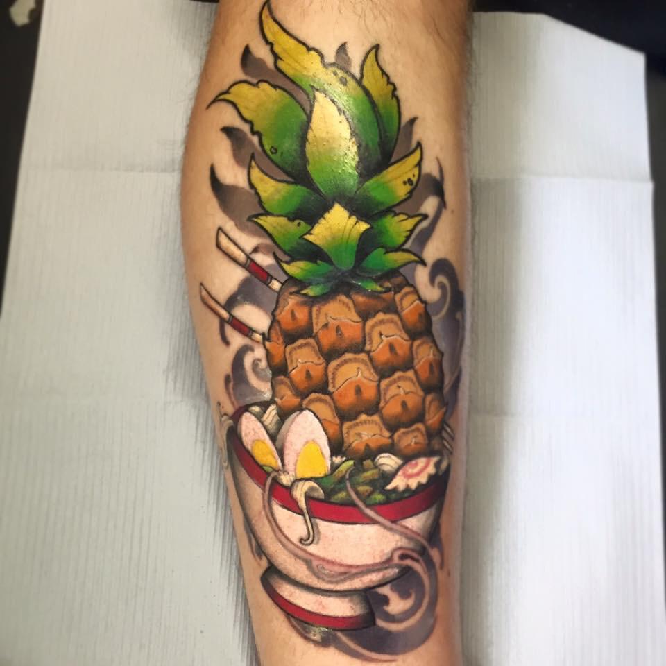 Pineapple Tattoo by Max Bonneau