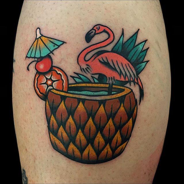 Pineapple Tattoo by Alex Zampirri
