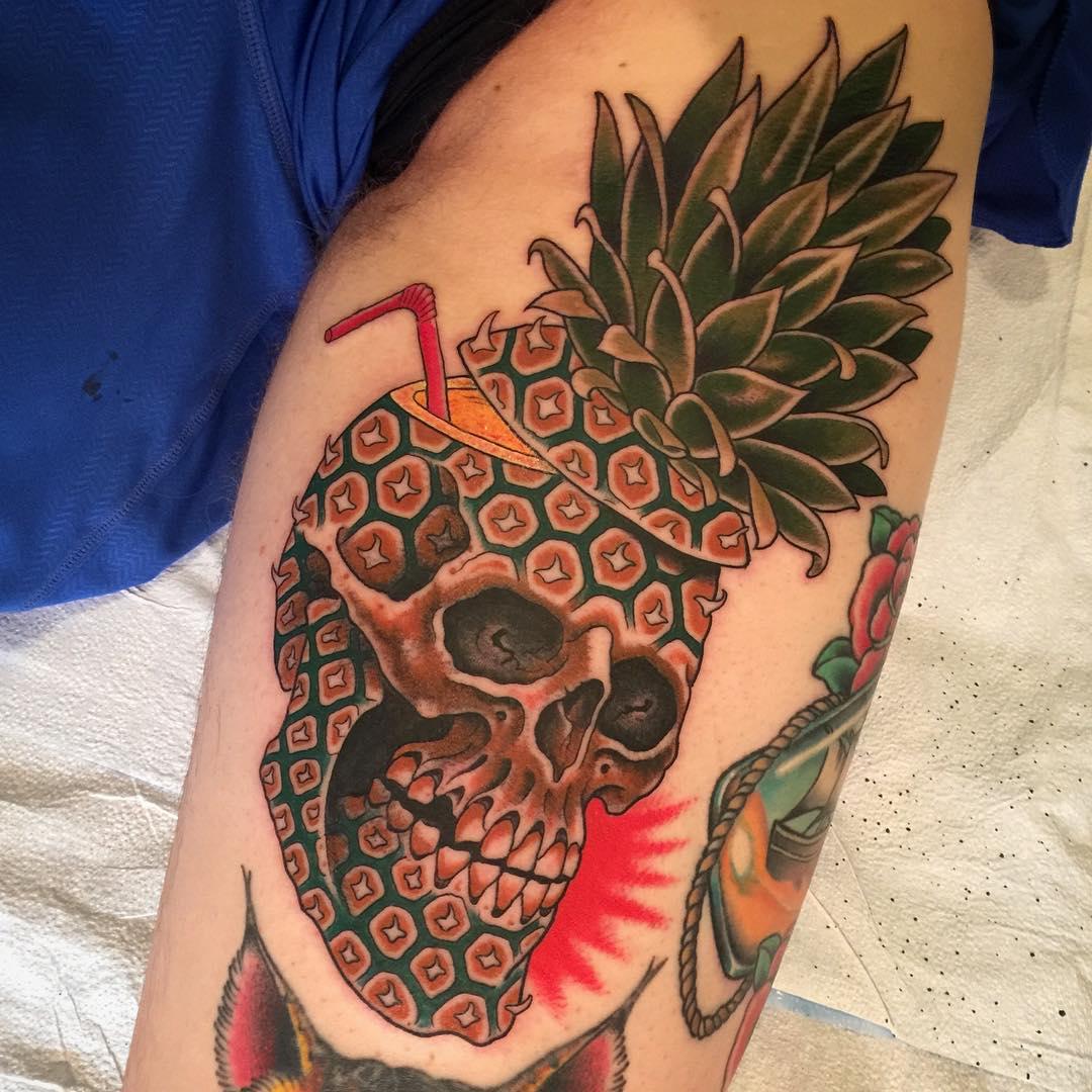 Pineapple Tattoo by Zack Spurlock
