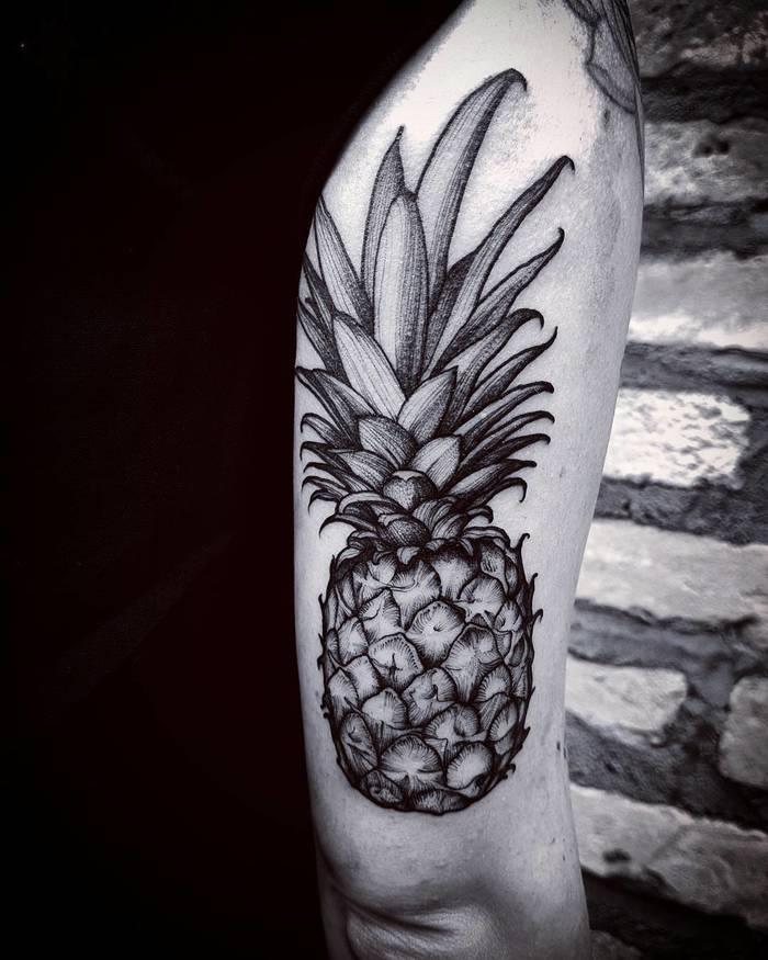Pineapple Tattoo by Felipe Kross
