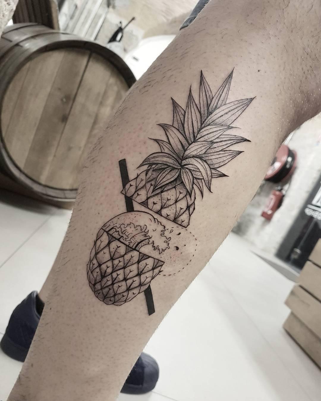 Pineapple Tattoo by Nëss Cerciello