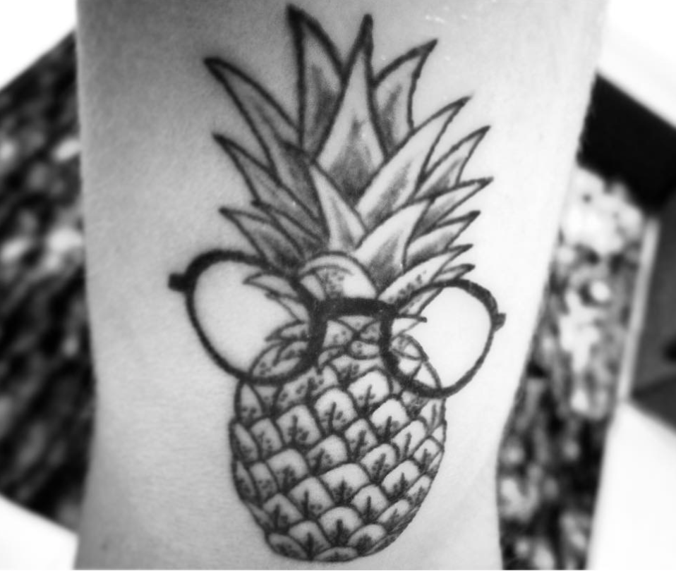 Pineapple Tattoo by Rom Carlizza
