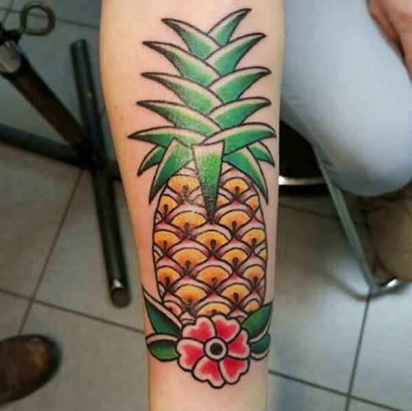 Pineapple Tattoo by Roger McMahon