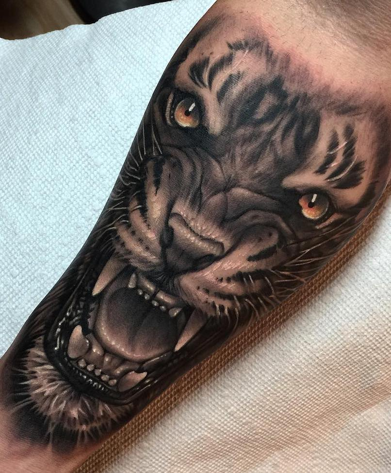 Alejandro Mazakre Tiger Tattoo