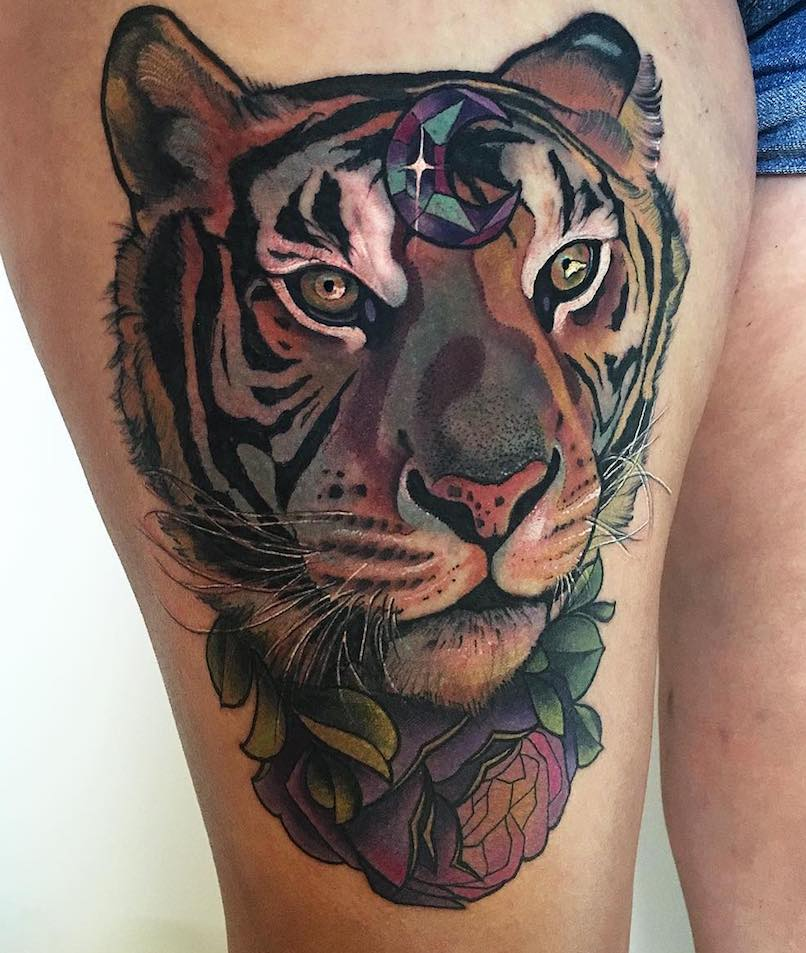 Miryam Lumpini-Tiger Tattoo