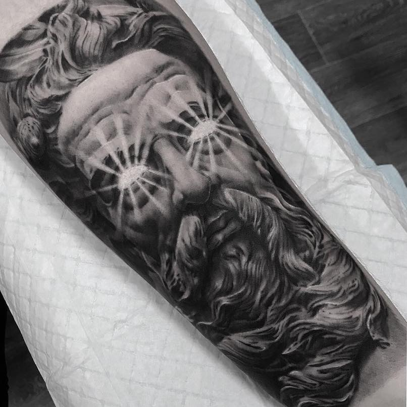 Poseidon tattoo by Brad Doul
