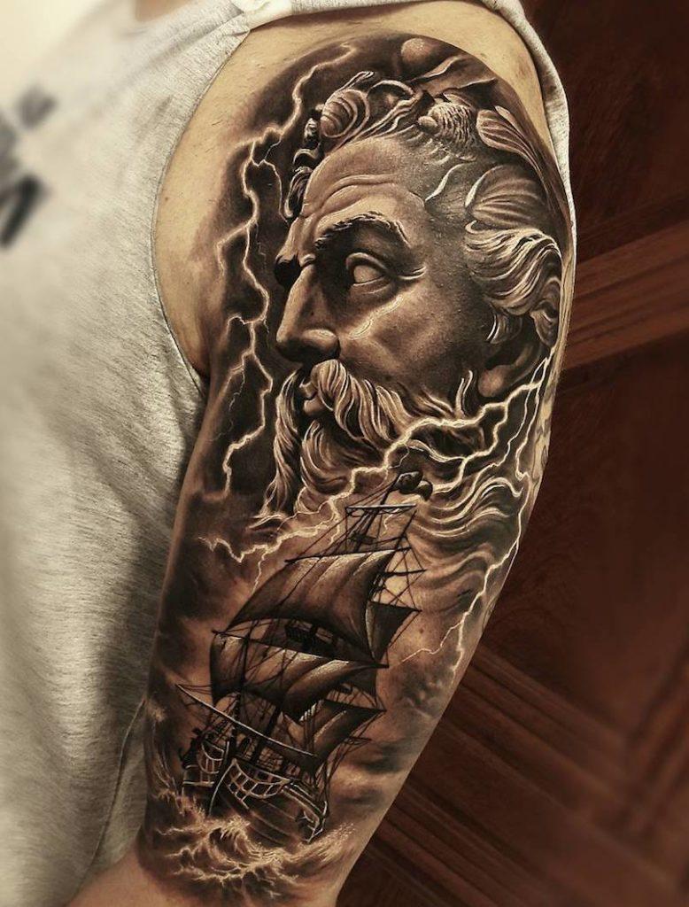 Poseidon tattoo by Samuraii Standoff