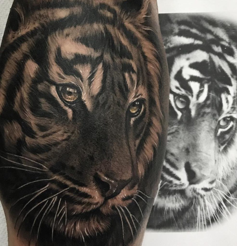 Tiger tattoo by Juande Gambin