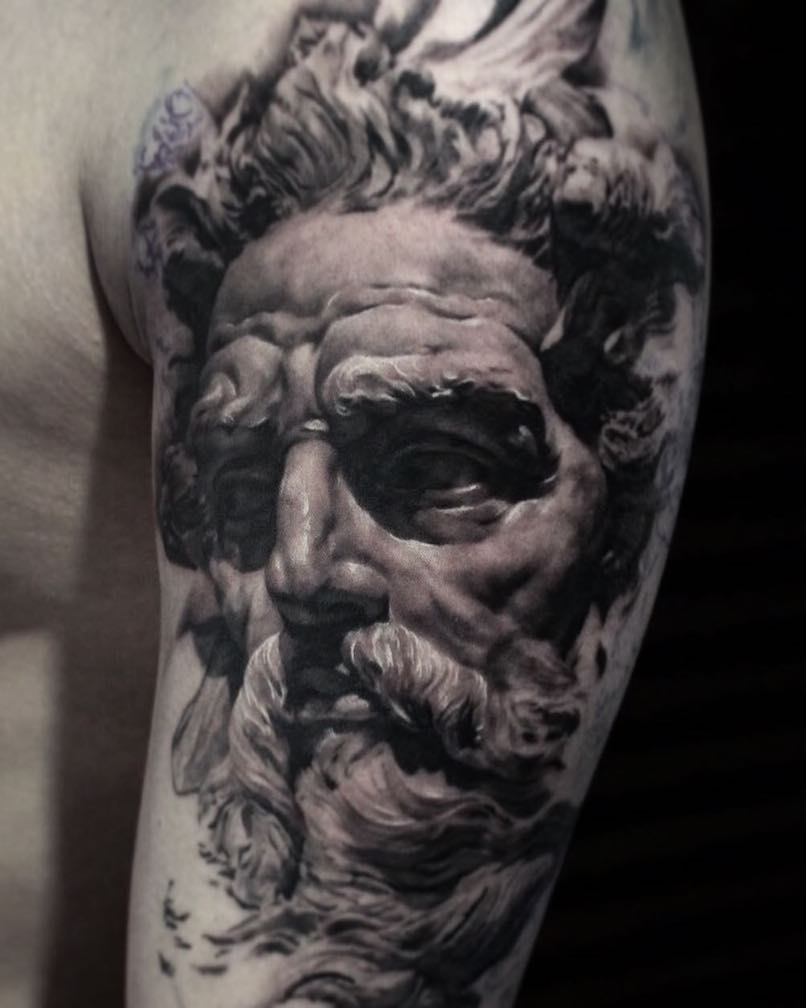 Poseidon tattoo Youngjin Jung