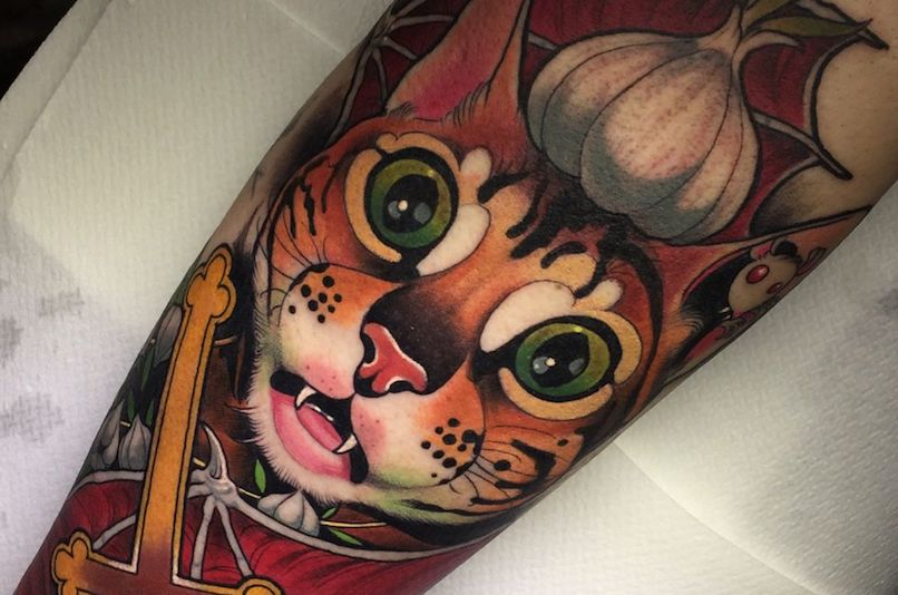 cat tattoo by Fruduva