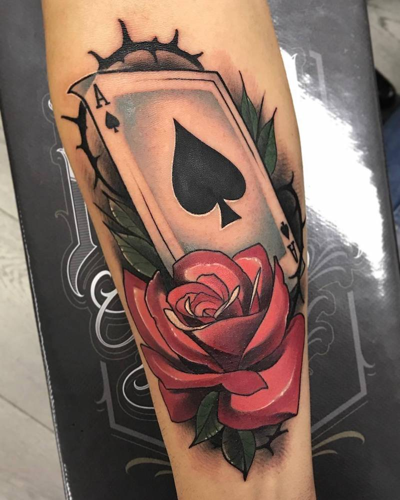 Ace Tattoo by Alberto Estepa