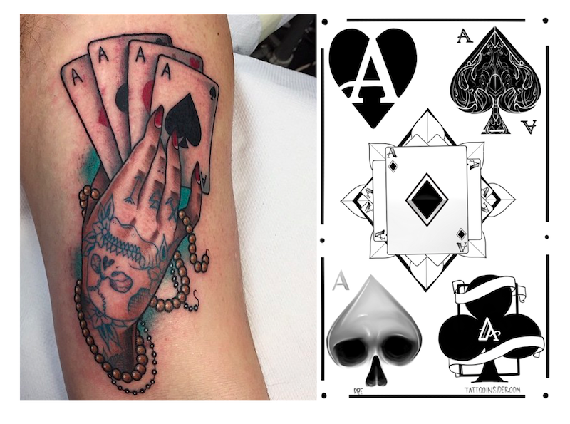 Best Ace Tattoos and 5 Free Ace Tattoo Designs