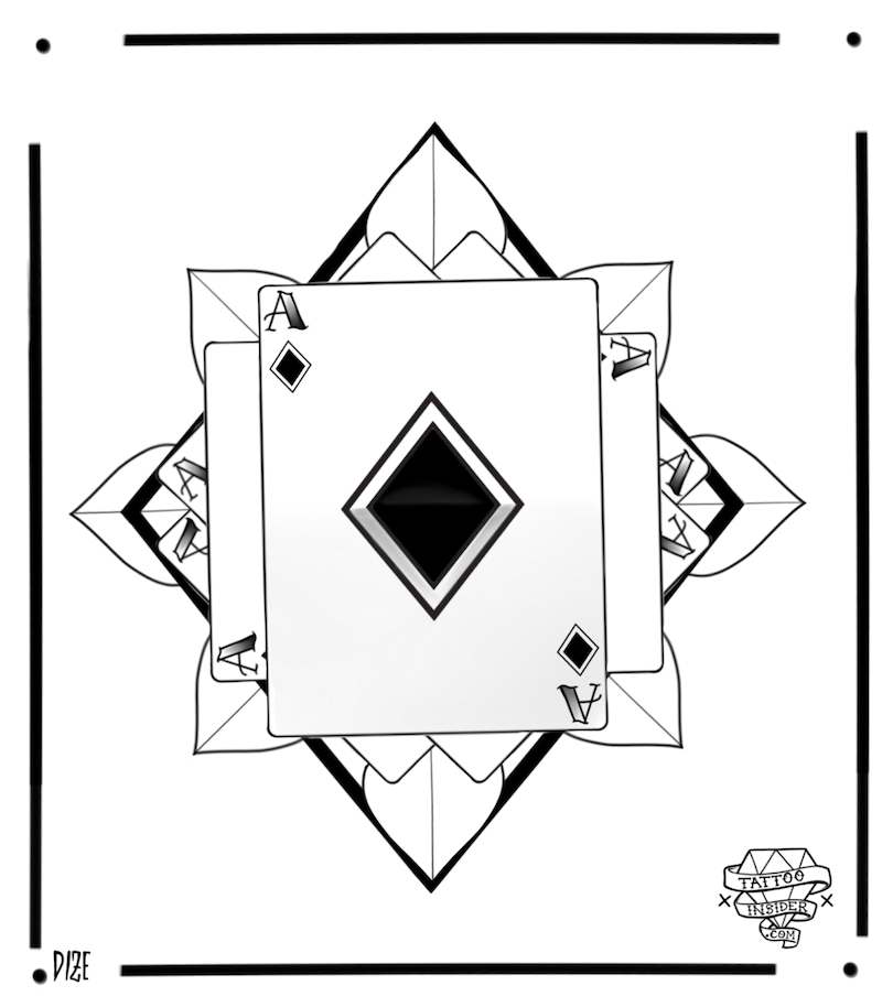 Ace of Diamonds Tattoo Design