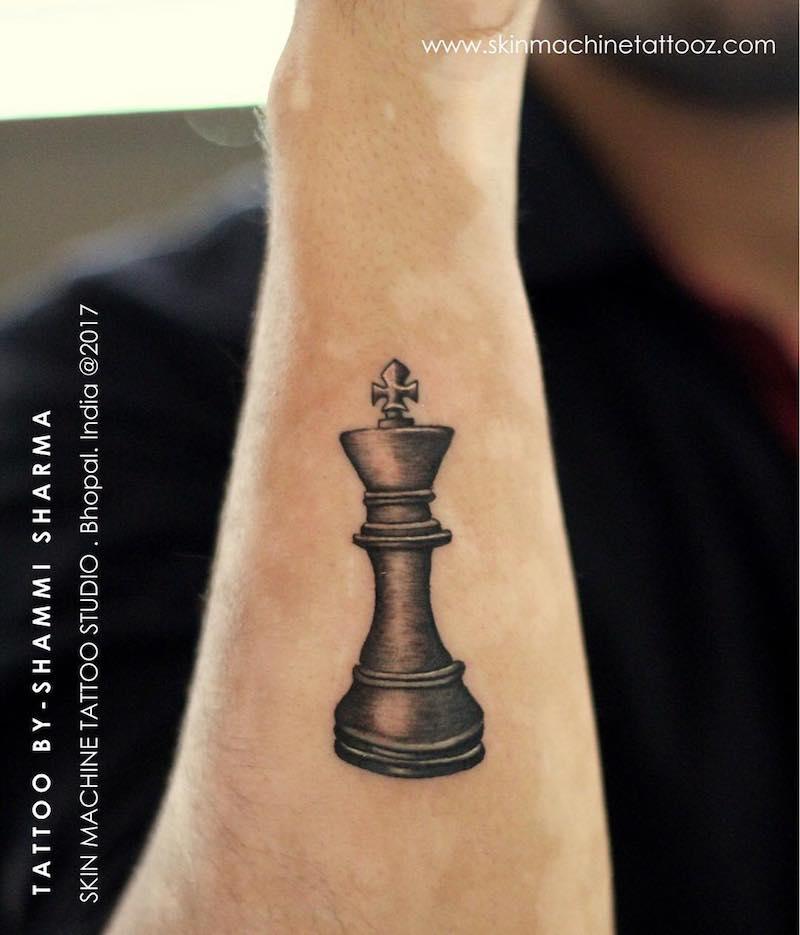 Chess King Tattoo Shammi Sharma
