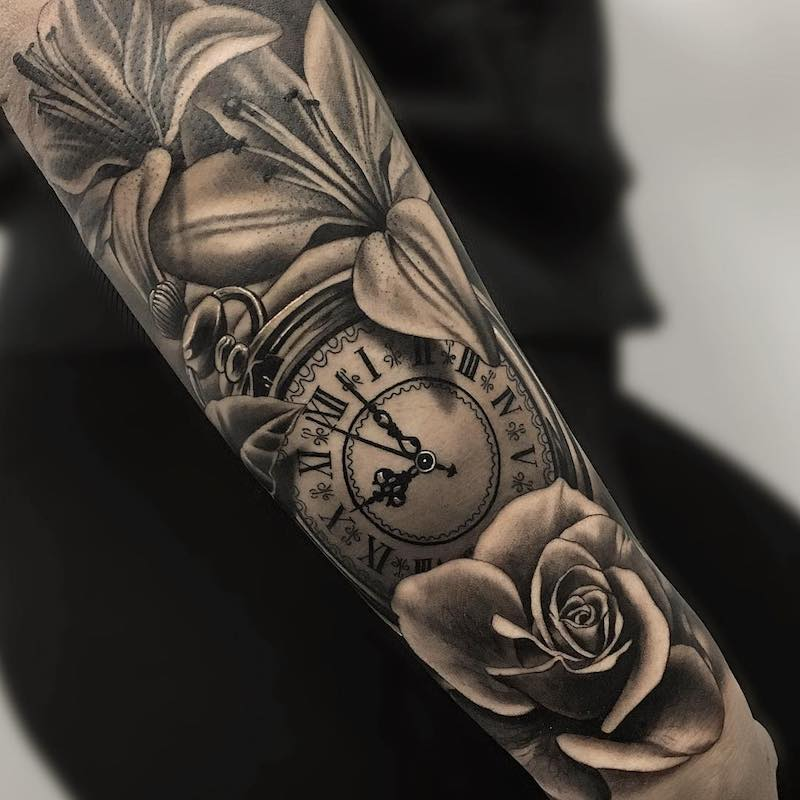 Clock Tattoo 2 by Camacho Valencia
