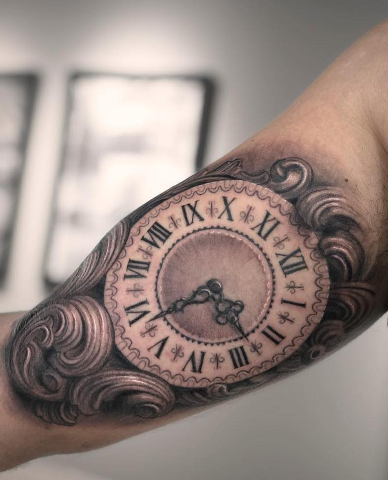 Clock Tattoo 4 by Darwin Enriquez