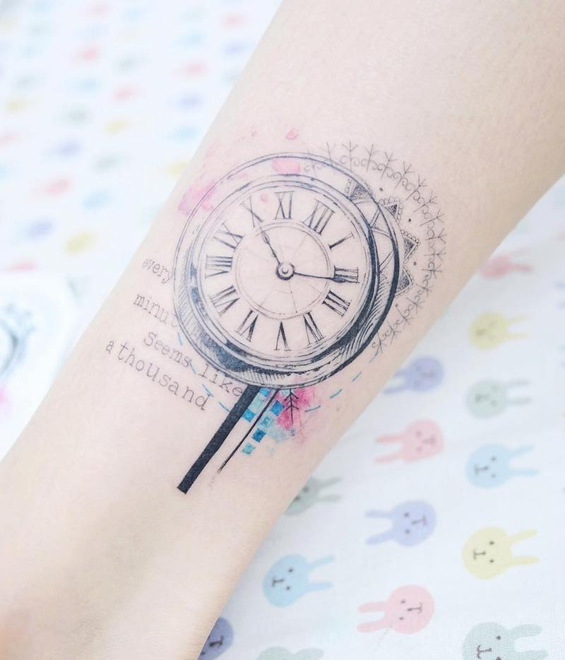 Clock Tattoo by Banul Seoul