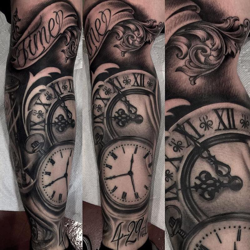 Clock Tattoo by Ebone Capone