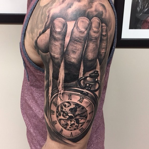 Clock Tattoo by Eris Qesari