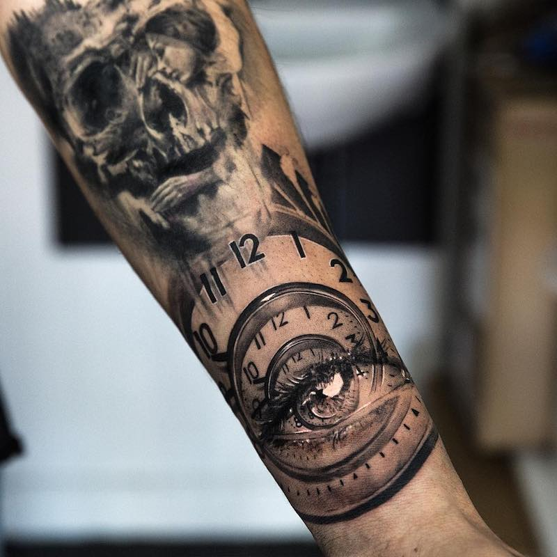 Clock Tattoo by NIKI23GTR
