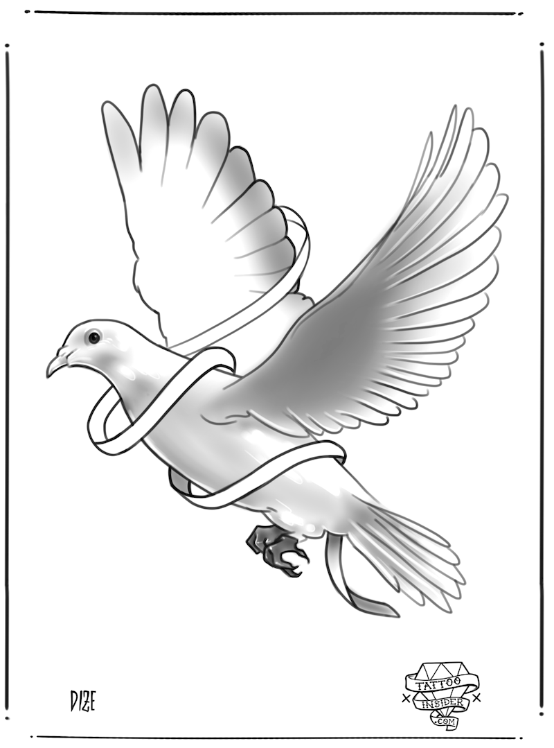 Dove Tattoo Design