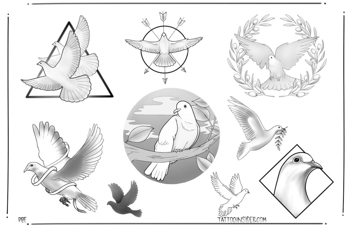 9 Free Dove Tattoo Designs