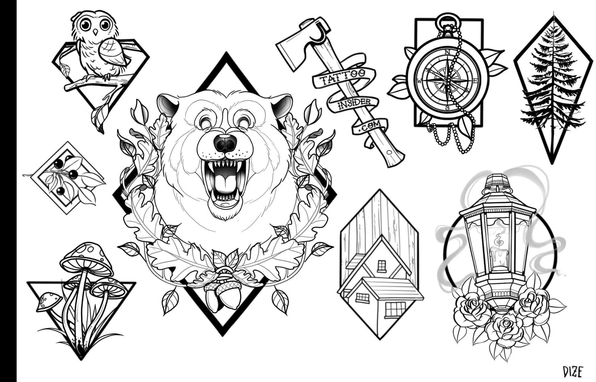 Forest Tattoo Designs