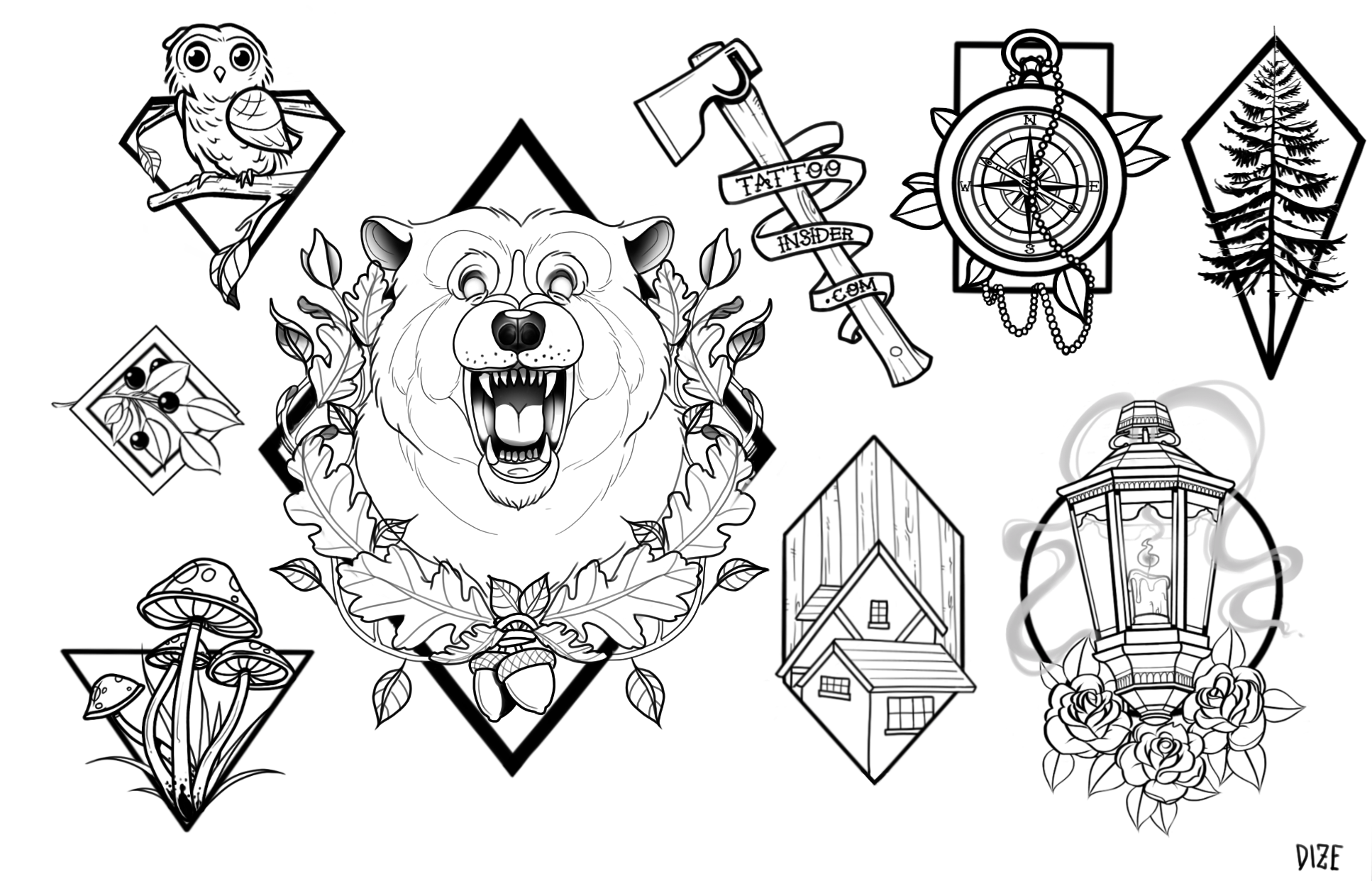 9 Free Forest Tattoo Designs