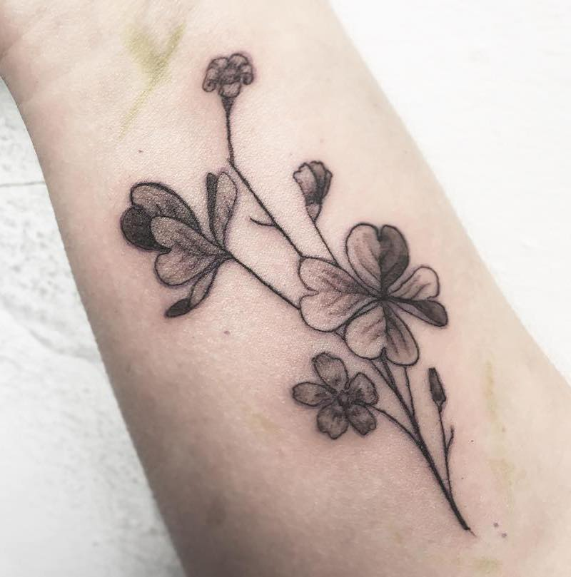 Four Leaf Clover Lucky Tattoo by Alice Bea Guerin