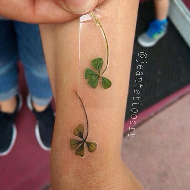 Four Leaf Clover Lucky Tattoo by Jean Alvarez