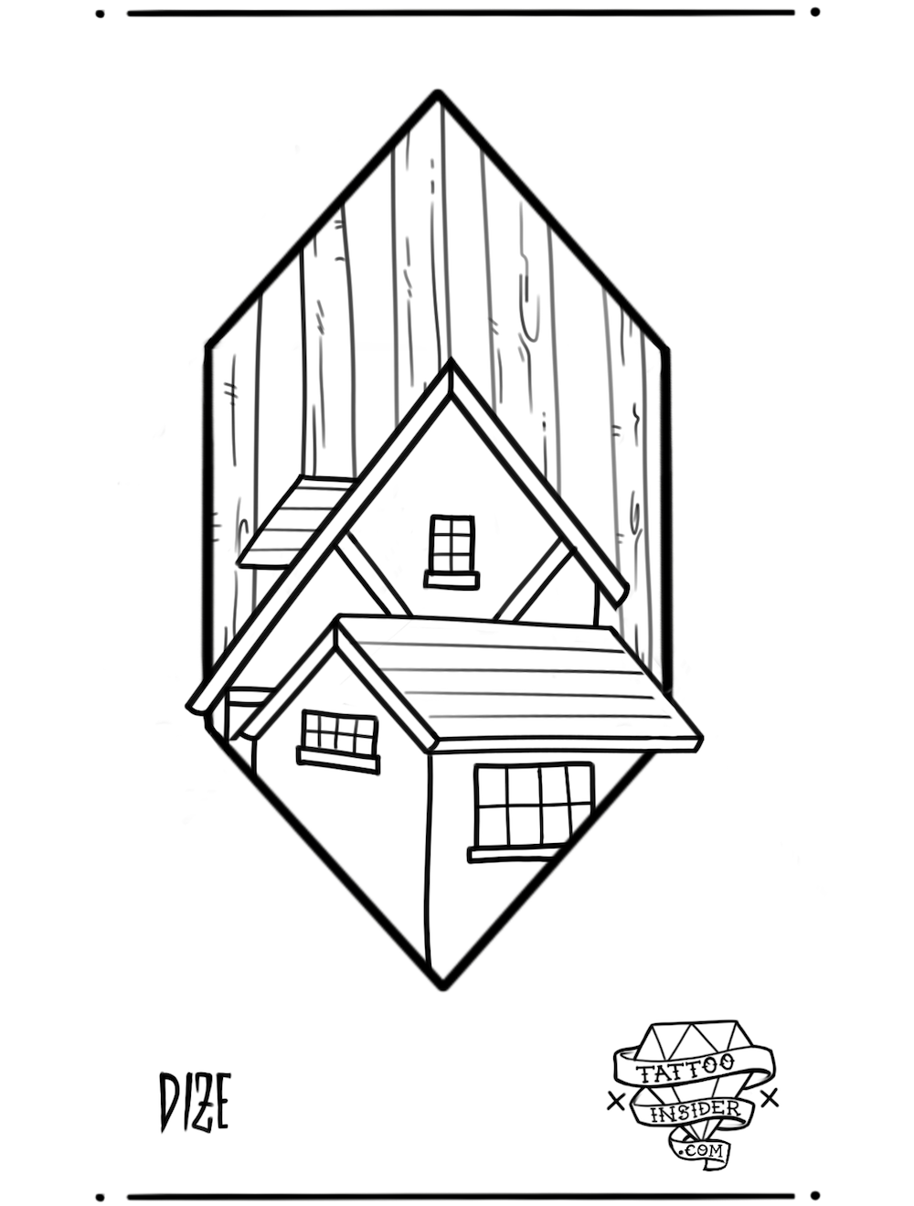 House in the Woods Tattoo