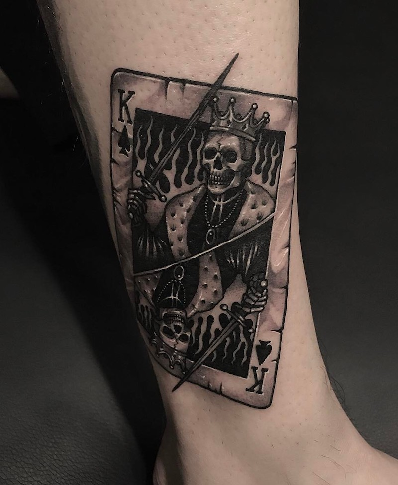 King Tattoo by Gara Tattooer