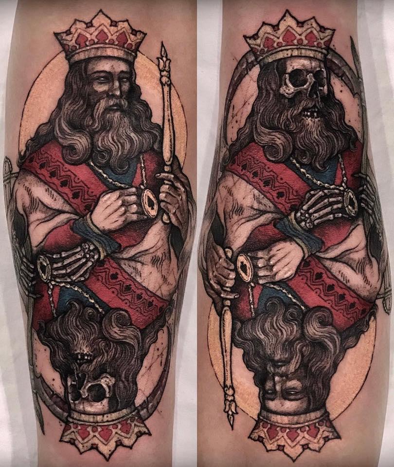 King Tattoo by Varo Tattooer