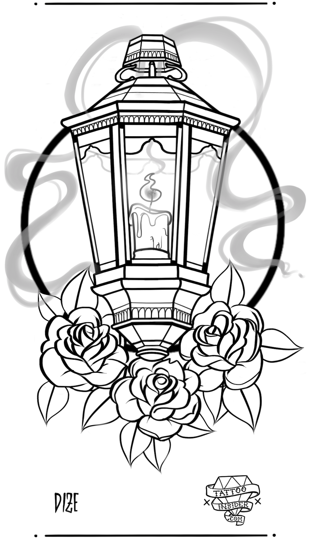 Lantern Tattoo Design