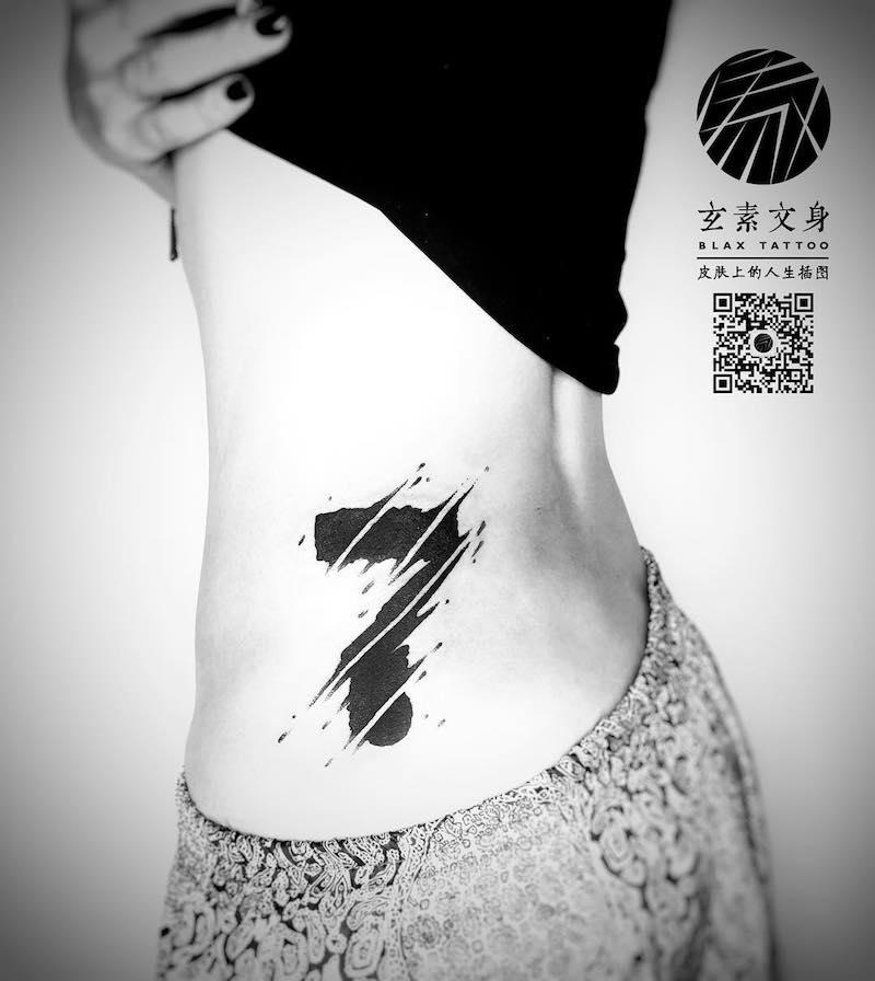 Lucky 7 Tattoo by Blax Tattoo