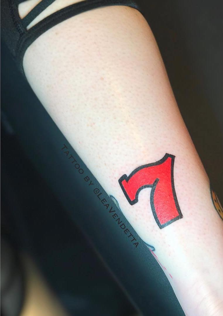 Lucky 7 Tattoo by Lea Vendetta