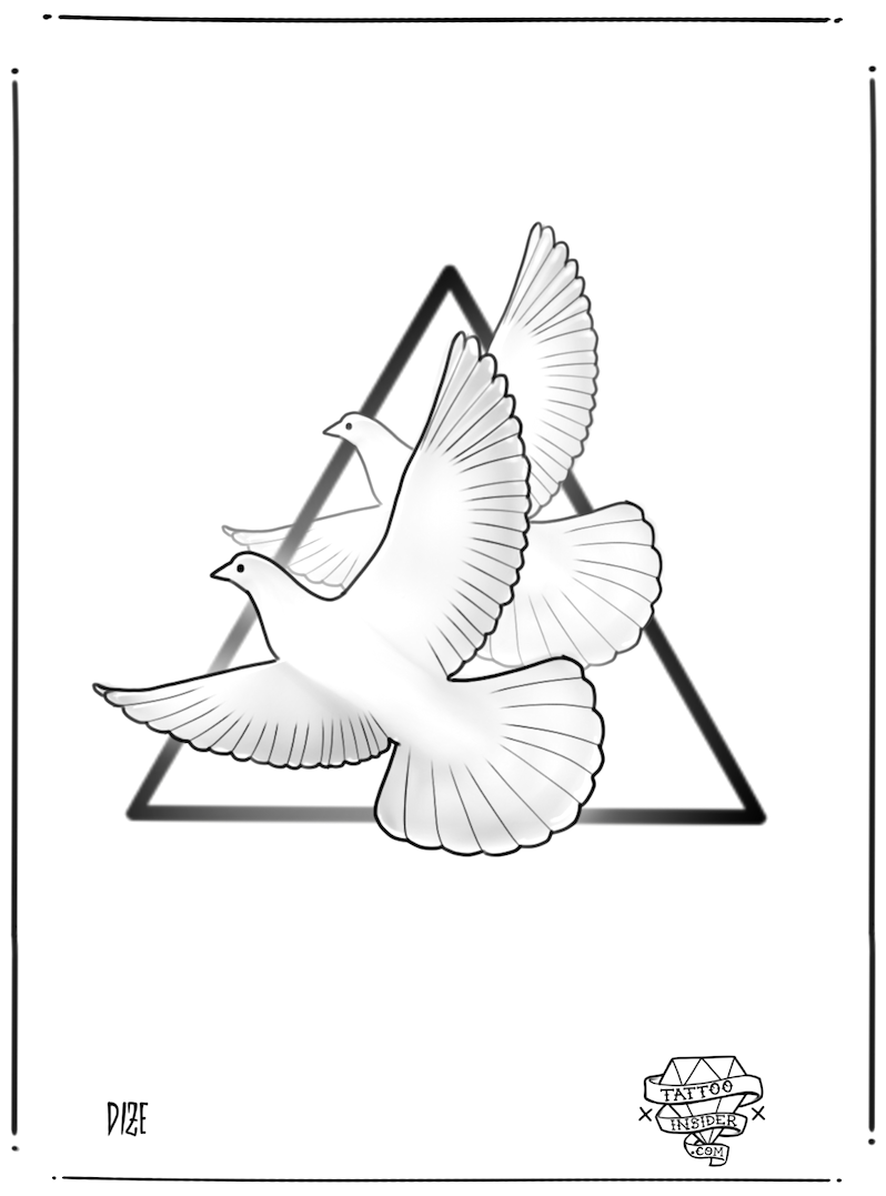Turtle Doves Tattoo Design