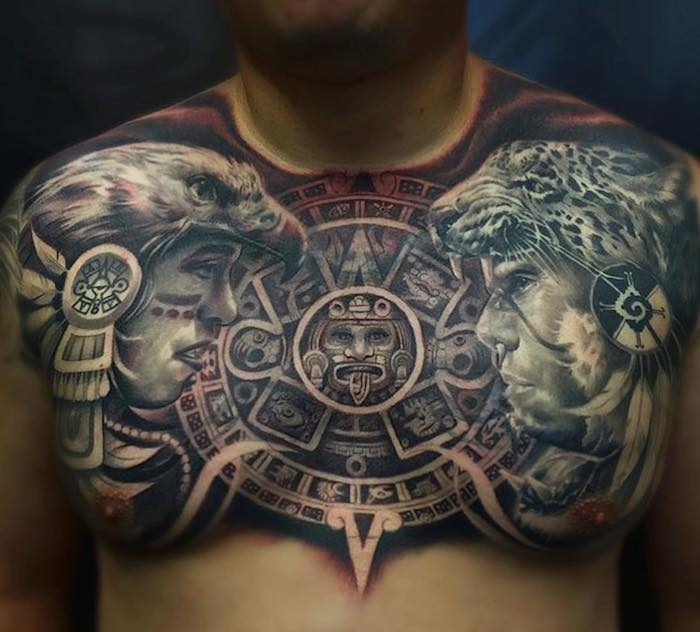 Aztec Tattoo by AB Ink