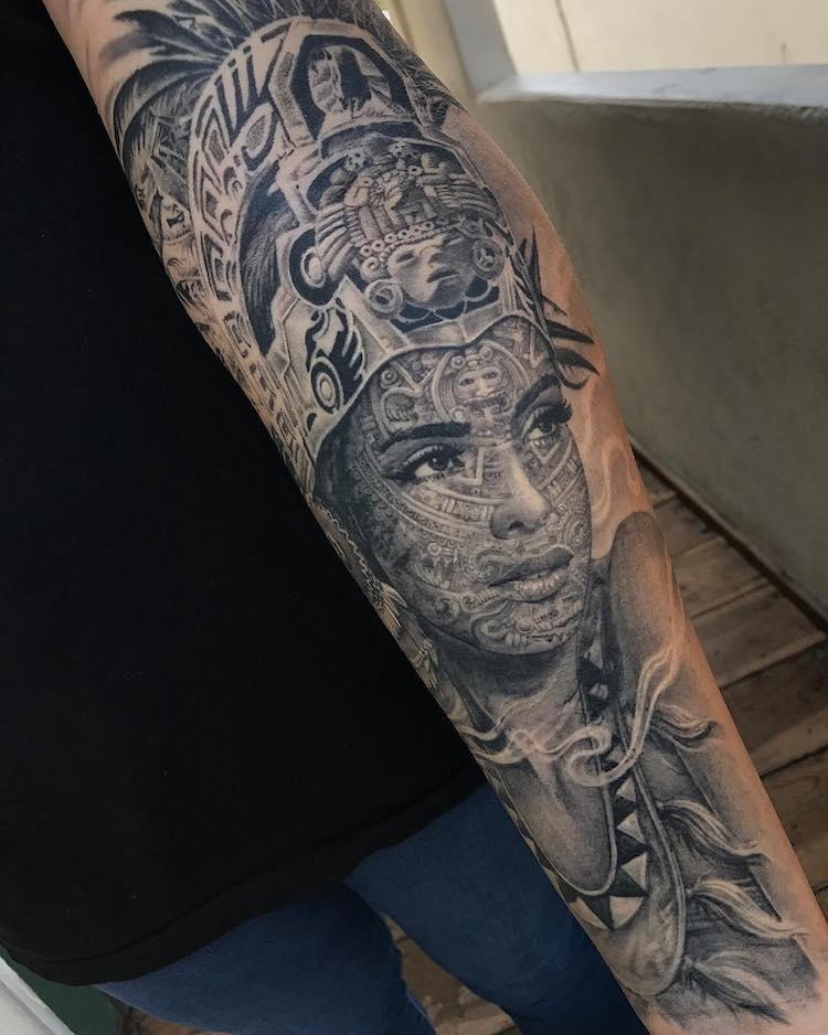 Aztec Tattoo by Allan Rivera